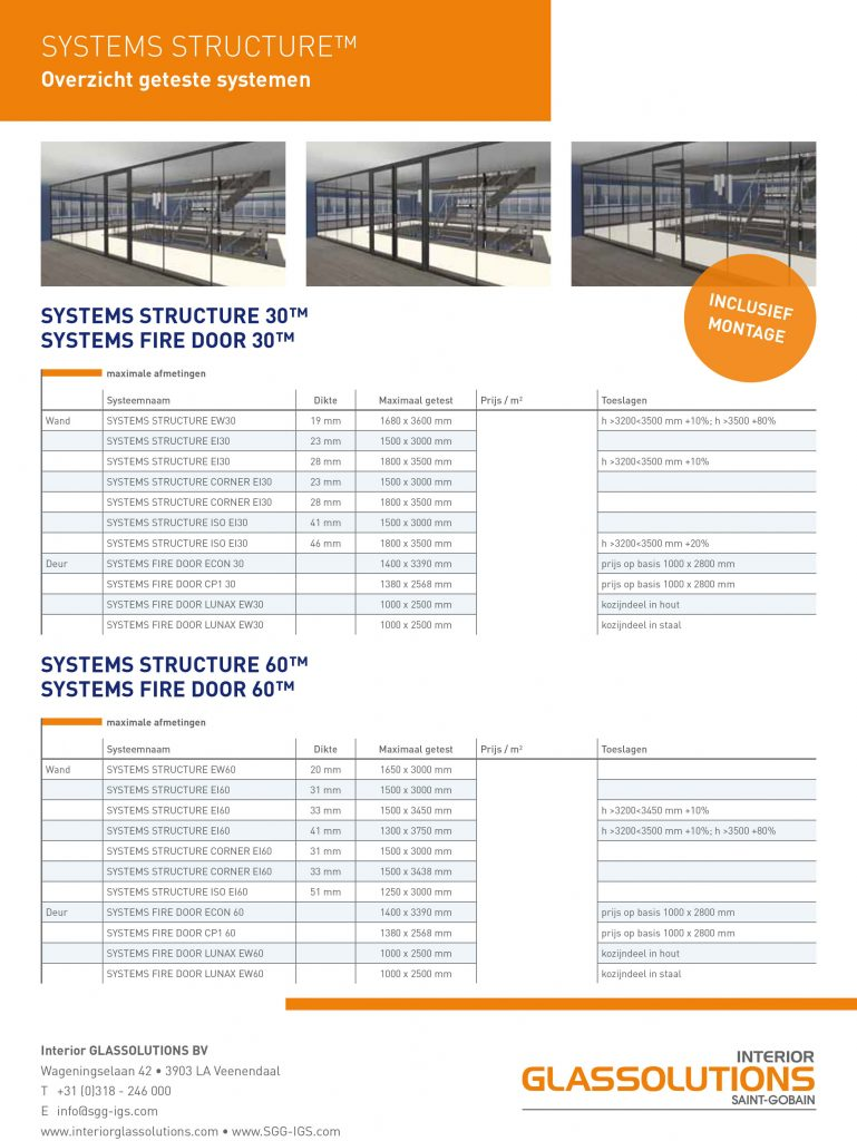 INTERIOR GLASSOLUTIONS FLYER STRUCTURE zonder prijzen 2015